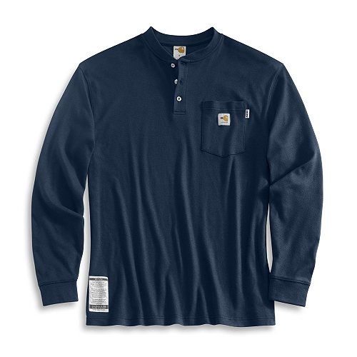 Carhartt Style #: FRK293 Men�s Flame-Resistant Long-Sleeve Henley FRK293